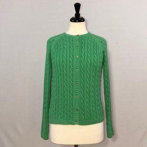 L.L.Bean Cable Knit Cardigan 100% Cotton